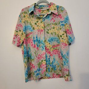 Alfred Dunner Womens Multicolor Blouse Top Sz 18 W